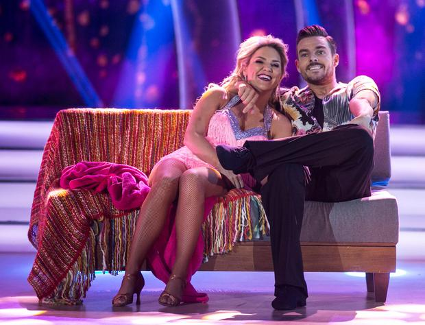 Erin McGregor and Ryan McShane,during the Live show of RTE's Dancing with the Stars. Credit: kobpix