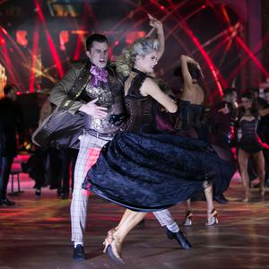Pro Dancers and Members of Riverdance ,during the Live show of RTE's Dancing with the Stars. Credit: kobpix