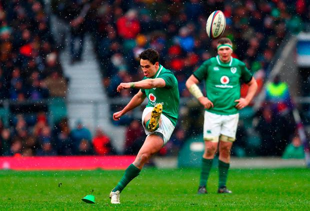 Joey Carbery in action at Twickenham. Photo: Clive Rose/Getty Images