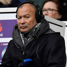 Stony-faced England head coach Eddie Jones looks on during Saturday's defeat at Twickenham. Photo: Reuters