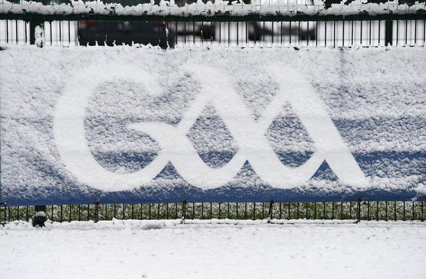 The weather gods have spoken in recent weeks, making it clear that trying to jam so many games and competitions into a short period at the riskiest time of year weather-wise is foolhardy. Photo: Sportsfile