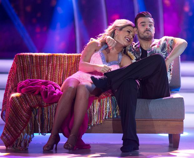 Erin McGregor with Ryan McShane during last night's 'Dancing With The Stars'