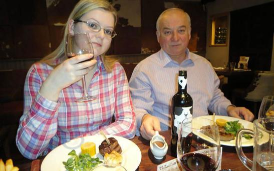 Close to death: Yulia Skripal and her father Sergei