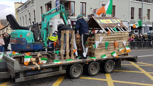 The 'Lidl' float in the Spiddal parade
