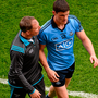 30 August 2015; Dublin manager Jim Gavin with Diarmuid Connolly