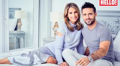 Vogue Williams and Spencer Matthews in Hello! magazine announcing their baby news. Picture: Hello!/PA Wire
