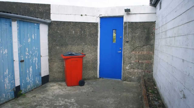 The outbuildings, before the renovations took place. Photo: RTE