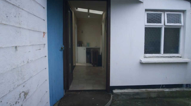 A view into the kitchen from the outside. Photo: RTE