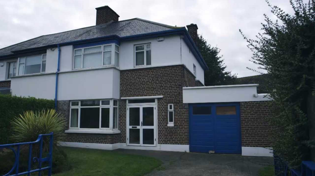 The exterior of the Killester home, before the renovations started. Photo: RTE
