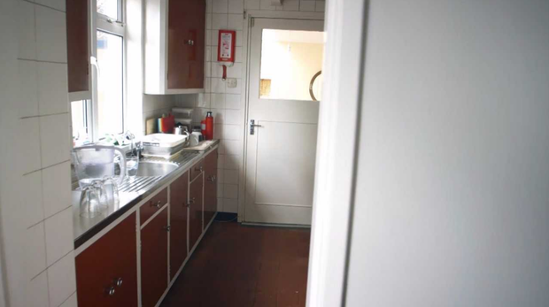 The old kitchen in Cliona and Michael's home. Photo: RTE