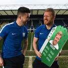 Sean Maguire (left) with Preston team-mate Daryl Horgan (right).