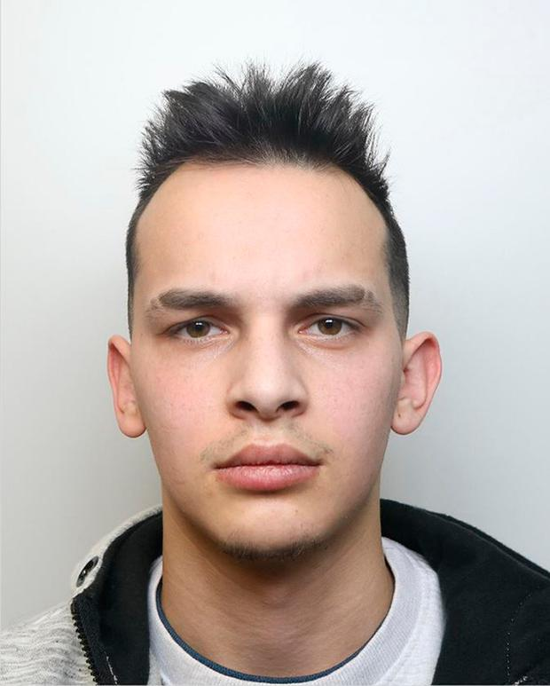 Derbyshire Constabulary undated handout photo of Patrik Gunar who has been jailed for three years at Derby Crown Court for robbing a 12-year-old girl of her mobile phone picked on his victim because she was