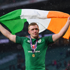 17 March 2018; Dan Leavy of Ireland celebrates following the NatWest Six Nations Rugby Championship match between England and Ireland at Twickenham Stadium in London, England. Photo by Ramsey Cardy/Sportsfile