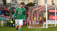 19 March 2018; Kieran Sadlier of Cork City celebrates after scoring his side's second goal during the SSE Airtricity League Premier Division match between Cork City and Bohemians at Turner's Cross in Cork. Photo by Eóin Noonan/Sportsfile
