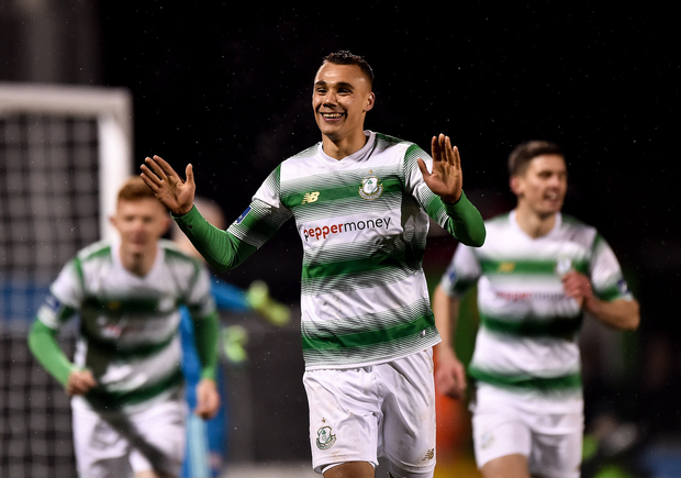 Graham Burke of Shamrock Rovers celebrates