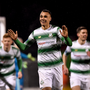 9 March 2018; Graham Burke of Shamrock Rovers celebrates after scoring his third and his side's fifth goal during the SSE Airtricity League Premier Division match between Shamrock Rovers and Derry City at Tallaght Stadium in Tallaght, Dublin. Photo by Seb Daly/Sportsfile