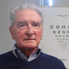 Douglas Waters was struggling to see up-close after developing severe macular degeneration, but 12 months on he is able to read a newspaper again. Photo: Moorfields
