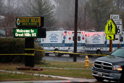 Maryland teen wounds two at school, dies after gunfight with officer