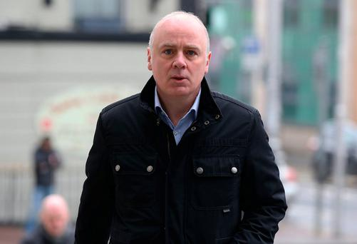 Former CEO of Anglo Irish Bank, David Drumm pictured arriving at the Dublin Circuit Criminal Court. Photo: Collins Courts