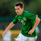 Liam Kelly in action with Ireland's U-19s in 2013