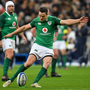 3 February 2018; Jonathan Sexton of Ireland kicks a penalty during the NatWest Six Nations Rugby Championship match between France and Ireland at the Stade de France in Paris, France. Photo by Brendan Moran/Sportsfile