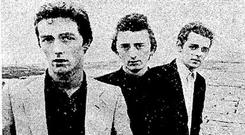 The original line-up of The Blades including (far right) Laurence Cleary