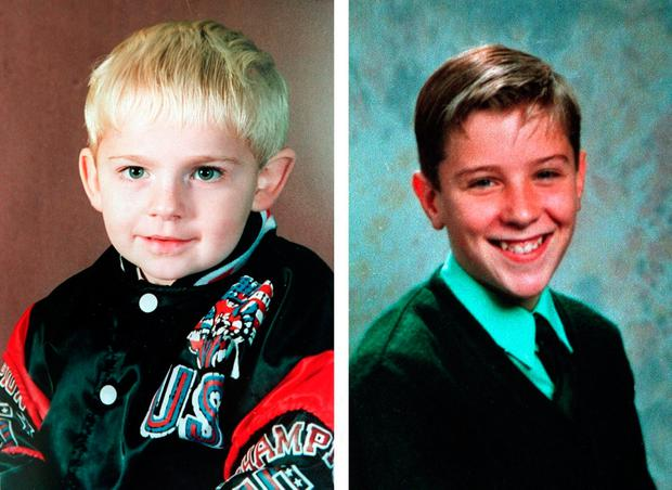 Tim Parry, 12, (right) and three-year-old Johnathan Ball (left) were killed when two devices hidden in litter bins were detonated without warning on March 20, 1993. Photo: PA