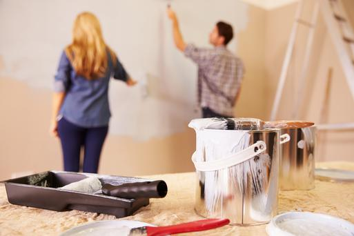 Dublin homeowners lead the way, spending an average of €18,721 per home improvement project. Stock image