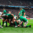 Scrum success: Ireland forwards prepare for a scrum Photo: Getty