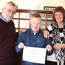 Sean Hickey with his adoptive parents Ursula and Peter.