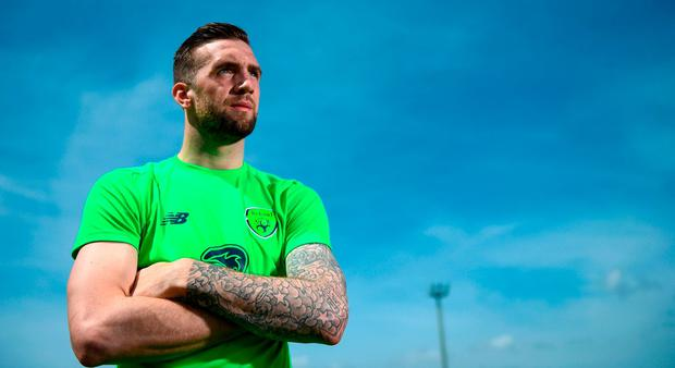 Shane Duffy poses for a portrait after speaking to media following Republic of Ireland squad training at Regnum Sports Centre in Belek, Turkey. Photo by Stephen McCarthy/Sportsfile