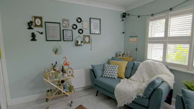 The living room in Katrina and Adam Carroll's semi detached home in Dublin