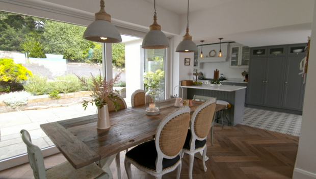 The dining area, just off the kitchen.