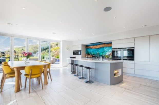 The kitchen and dining area in Margaret and Mark Conway's west Cork home.