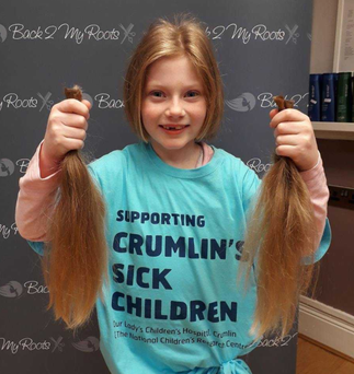 Megan O'Leary grew her hair for seven months and then donated it to charity.