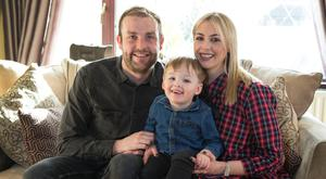 Chris Latham and Marie O'Driscoll with Jack (2)