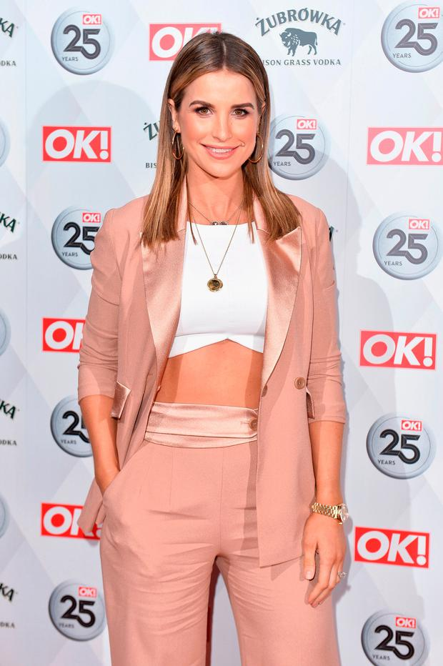 Vogue Williams attends OK! Magazine's 25th Anniversary Party at The View from The Shard on March 21, 2018 in London, England. (Photo by Jeff Spicer/Getty Images)