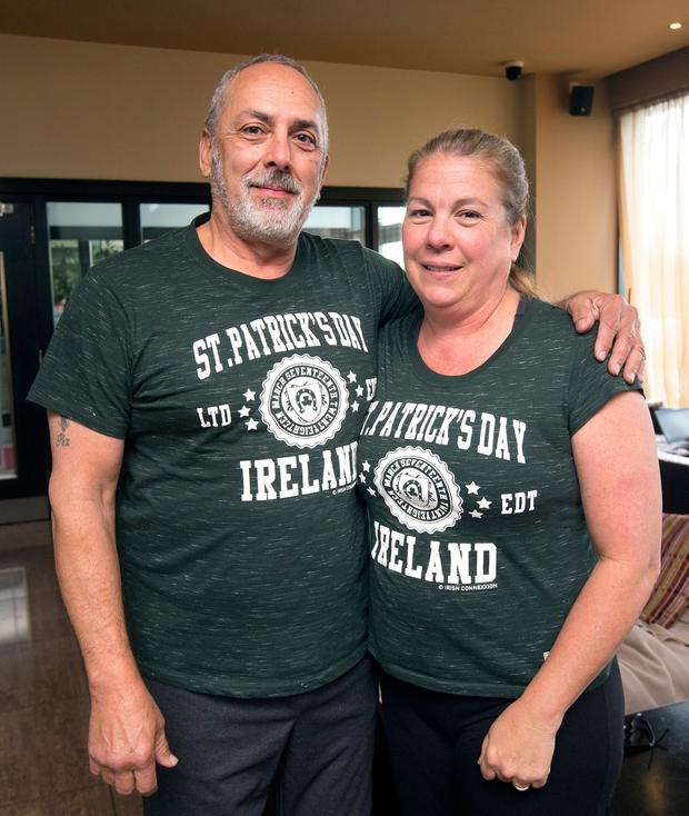 Tourists from Texas, James and Diana Colunga who were evacuated from the fire in The Metro Hotel. Picture: Tony Gavin 22/3/201