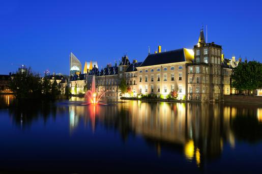 The Binnenhof buildings of the Dutch Government in the Hague