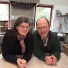 Dominic and Ali Leonard in the tea rooms the opened on their farm