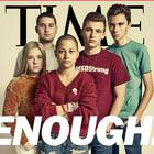 Marjory Stoneman Douglas High School students Jaclyn Corin, Alex Wind, Emma González, Cameron Kasky and David Hogg appear on Time's cover for a story about young people driving the gun control debate Photo: TIME
