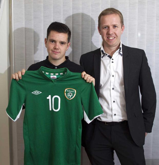 Liam Kelly with Independent.ie's Kevin Palmer back in 2014