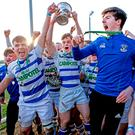 Garbally College players celebrate winning the Connacht Schools Senior Cup LASZLO GECZO/INPHO