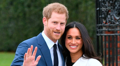 Britain's Prince Harry and his fiancée Meghan Markle. Photo: PA