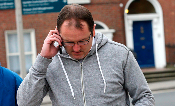 Conor O'Hora leaving court yesterday. Photo: Courtpix