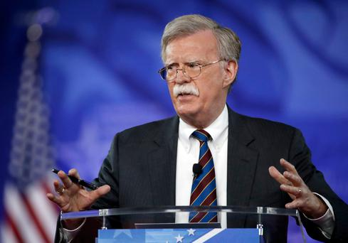 In this Feb. 24, 2017, file photo, former U.S. Ambassador to the U.N. John Bolton speaks at the Conservative Political Action Conference (CPAC) in Oxon Hill, Md. President Donald is replacing National security adviser H.R. McMaster with Bolton. (AP Photo/Alex Brandon, File)