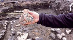 Dean Street archaeological dig at the Coombe, Dublin 8 Pic: Kevin Weldon/Aisling Collins