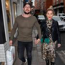 Erin McGregor and her partner Terry Kavanagh Spotted walking on Clarendon Street, Dublin Local Caption *** Terry Kavanagh, Erin McGregor