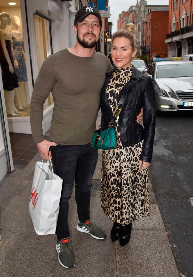 Erin McGregor and her partner Terry Kavanagh Spotted walking on Clarendon Street, Dublin