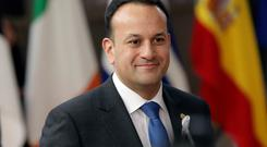 Taoiseach Leo Varadkar arrives for an EU summit at the Europa building in Brussels on Thursday, March 22, 2018. Leaders from the 28 European Union nations meet for a two-day summit to assess the state of Brexit negotiations, the prospect of a trade war with the United States and how to react to Russia following to the nerve agent attack in Britain. (AP Photo/Olivier Matthys)